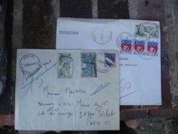 Lot 2 Lettre Pneumatique Timbre Carnac  Moustiers - Marcophilie (Lettres)