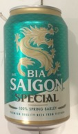 Vietnam Viet Nam Saigon Special 330ml Empty Beer Can / Opened By 2 Holes At Bottom - Cans