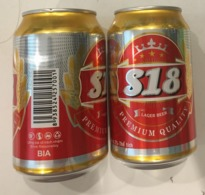 Vietnam Viet Nam S18 330ml Empty Beer Can / Opened By 2 Holes At Bottom - Cans