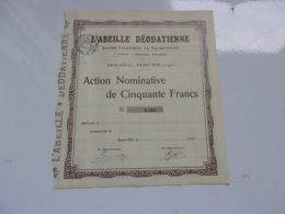 L'abeille Déodatienne (saint Dié , Vosges) - Actions & Titres
