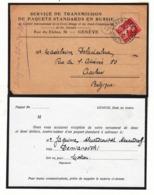 Guerre 1914/18       Croix Rouge De Genève Vers La Belgique  Recherche  De Paquet Standard  Après Guerre Année  1922 - Oorlog 14-18