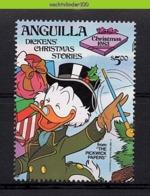 Nfe040z WALT DISNEY KERSTMIS TREE PRESENTS DAGOBERT DONALD UNCLE SCROOGE CHRISTMAS ANGUILLA 1983 PF/MNH - Disney