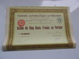 La Visserie Automatique De Précision (1928) - Actions & Titres