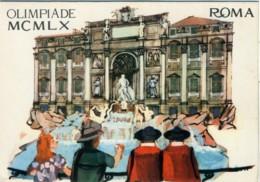 OLIMPIADE 1960 ROMA  Fontana Di Trevi Illustrata - Giochi Olimpici