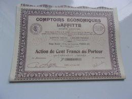 COMPTOIRS ECONOMIQUES LAFFITTE (1929) - Actions & Titres
