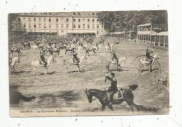 Cp, Militaria , Le Carrousel Militaire , Doublé Individuel, Cavaliers ,chevaux ,49 ,  SAUMUR ,  Voyagée 1913 - Characters