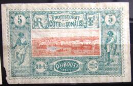 COTES DES SOMALIS                    N° 9                    NEUF* - Côte Française Des Somalis (1894-1967)