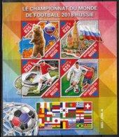 NIGER  Feuillet  N° 3103/06 * *   ( Cote 20e )  Cup 2018  Football Soccer Fussball Ours Stades - Fußball-Weltmeisterschaft