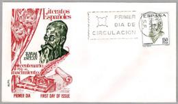 Centenario Del Nacimiento Del Escritor VALLE INCLAN - Writer. SPD/FDC Madrid 1966 - Escritores