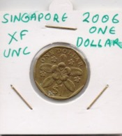 SINGAPORE COIN  1 DOLLAR-2006-USED AS SCAN(Kbx2) - Singapore