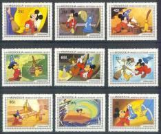 Nfe025 WALT DISNEY MICKEY TOVENAARSLEERLING THE SORCERER'S APPRENTICE  MONGOLIA 1983 PF/MNH - Disney