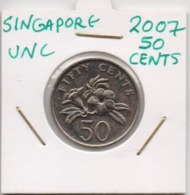 SINGAPORE COIN  50 CENTS-2007-USED AS SCAN(Kbx2) - Singapore