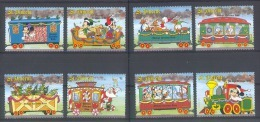 Nfe065 WALT DISNEY TREINEN KERSTMIS HERT AUTO TOYS CAR TEDDYBEAR DEER CHRISTMAS TRAINS ZUG ST. VINCENT 1988 PF/MNH - Disney