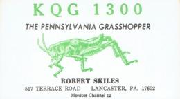 Lancaster Very Old QSL From Robert Skiles The Pennsylvania Grasshopper Terrace Road (1968) - CB