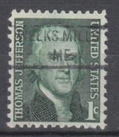 USA Precancel Vorausentwertung Preo, Locals Maine, Weeks Mills 841 - Vereinigte Staaten