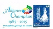 Nouvelle Caledonie Timbre Personnalise Timbre A Moi Prive Alliance Champlain 2015 Francophonie Nouveau - Sonstige