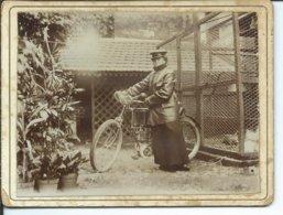 Une Des Premières Motocyclettes-photo 9,50cm Sur 12,50 Cm - Foto