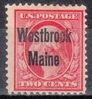 USA Precancel Vorausentwertung Preo, Locals Maine, Westbrook 1908-L-1 TS - Vereinigte Staaten