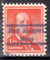 USA Precancel Vorausentwertung Preo, Locals Maine, West Jonesport 809 - Vereinigte Staaten