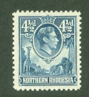 Northern Rhodesia: 1938/52   KGVI     SG37   4½d     MH - Rhodesia Del Nord (...-1963)