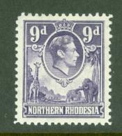 Northern Rhodesia: 1938/52   KGVI     SG39   9d      MH - Rhodesia Del Nord (...-1963)