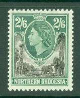 Northern Rhodesia: 1953   QE II     SG71    2/6d     MH - Rhodésie Du Nord (...-1963)