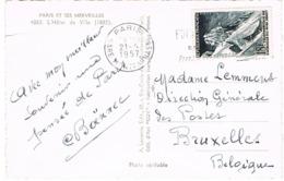 1079 AIGUILLE DU MIDI SEUL SUR CPA POUR BRUXELLES - 1921-1960: Periodo Moderno