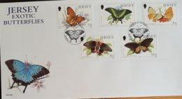 FDC Jersey Exotic Butterflies - 1971-1980 Dezimalausgaben