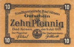 Notgeld 10pfg. Stadt Bad Kösen AU/EF (II) - [11] Lokale Uitgaven