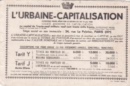 BUVARD / L URBAINE CAPITALISATION - Bank & Insurance