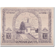 Billet, Autriche, Zwettl, 10 Heller, Paysage, 1920, 1920-04-25, SPL, Mehl:FS - Autriche