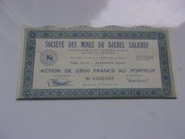MINES DU DJEBEL SALRHEF (maroc) - Actions & Titres