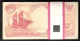 Lot 100 Pcs 1 Bundle Consecutive Indonesia 100 Rupiah 1992 UNC - Indonesien