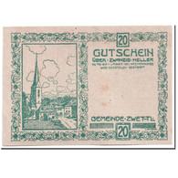 Billet, Autriche, Zwettl, 20 Heller, Paysage, 1920, 1920-04-25, SPL, Mehl:FS - Autriche
