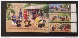 02 FDC Vietnam With Perf Stamps & Souvenir Sheet 2016 : Traditional Music In South Viet Nam (Ms1072) - Vietnam