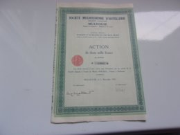 MULHOUSIENNE D'HOTELLERIE (1951) Mulhouse,haut Rhin - Actions & Titres
