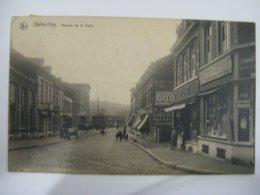Ancien  Carte  Postale  De  Huy  Statte   Avenue  De  La  Gare  Animé - Hoei