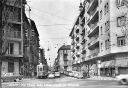"""09558 """"TORINO - VIA CHIESA DELLA SALUTE ANG. VIA STRADELLA"""" ANIMATA, AUTO, TRAM 9,VERA FOTO, S.A.C.A.T. .CART NON SPED - Italy"""