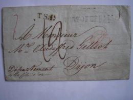 ITALIE - LAC De PORTOFERRAIO Du 5/04/1842 Arivée à Dijon Le 14/04/42 - Cachet D'entrée SARD Rouge + Taxe Manuscrite 12 - Italia