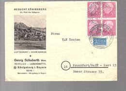 Königsberg Georg Schubert Textiil Lebensmiittel > Van Houten Chocolade (655) - Briefe U. Dokumente