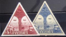 COTES DES SOMALIS                   PA 11/12                         NEUF* - Côte Française Des Somalis (1894-1967)