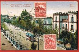 Mexico- Colonia Francesa Guadalajara-- Voyagée Avec Timbre 1924   - Recto Verso -  Paypal Free - Mexico