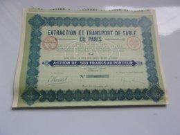 EXTRACTION ET TRANSPORT DE SABLE DE PARIS - Actions & Titres
