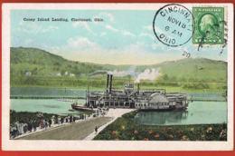 Cincinnati- Ohio- Coney Island Landing - Voyagée Avec Timbre 1920   - Recto Verso -  Paypal Free - Cincinnati