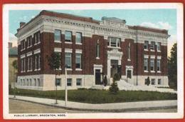 Public Library - Brockton - Massasuchetts- U.S.A -voyagée Avec Timbre 1920   - Recto Verso -  Paypal Free - Etats-Unis