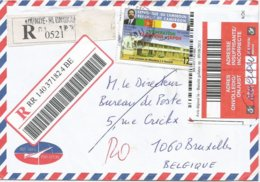 Cameroon Cameroun 2011 Yaounde Nlongkak Registered Returned Cover To Belgium - Cartas