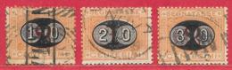 Italie Taxe N°22, N°23, N°24 Orange & Carmin 1890-91 O - 1878-00 Humbert I.