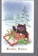 REF 422: CPA Bonne Année Chat Cat - Nieuwjaar