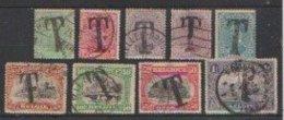 Belgique  1919  TAXE  N° 17 /25 Obliétré  = 9 Valeurs...série Compléte - Sellos