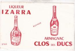 Buvard - Liqueur IZARRA - Armagnac CLOS Des DUCS - Liqueur & Bière
